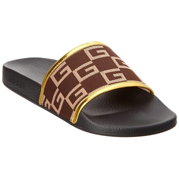 7b2714b85f8 Gucci Gg Print Pursuit Slide in Brown for Men